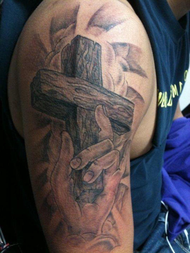 Jesus On Cross Tattoos For Men Religious Cross Tattoo On in measurements 800 X 1067