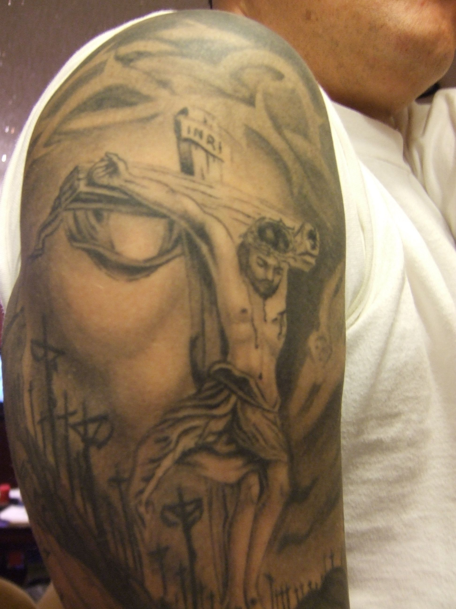 Jesus Tattoos Jesus Inside Of Face Tattoo Design Picture Free in sizing 1944 X 2592