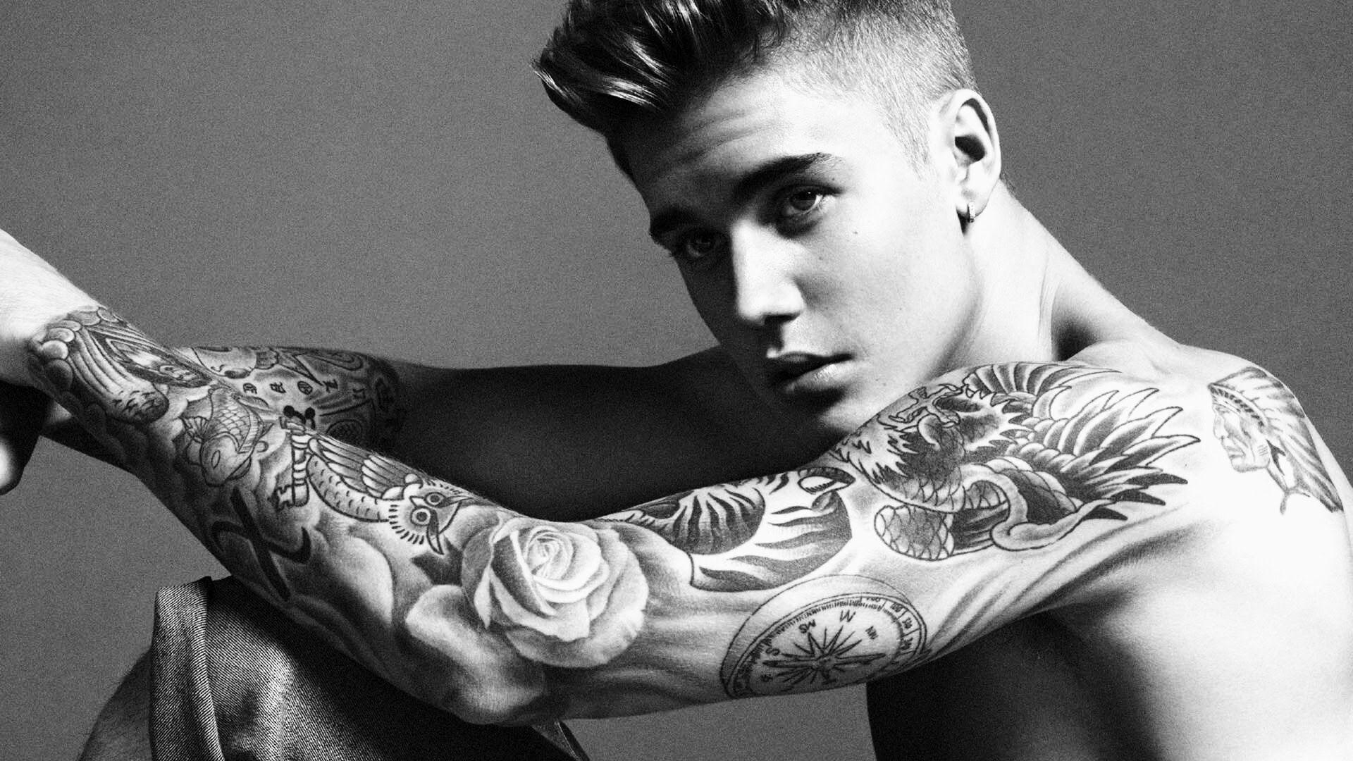 Justin Bieber All Tattoo Design Justin Bieber Tattoos His pertaining to proportions 1920 X 1080