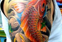 Koi Fish Arm Tattoos Upper Arm Japanese Koi Fish Design Tattoo with size 800 X 1067