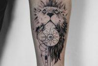 Koit Berlin Forearm Black Tattoo Lion Compass And Illuminati regarding proportions 1065 X 1920