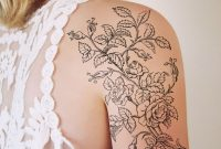 Large Black And White Floral Tattoo Tattoo Ideen Ttowierungen intended for dimensions 1000 X 1000