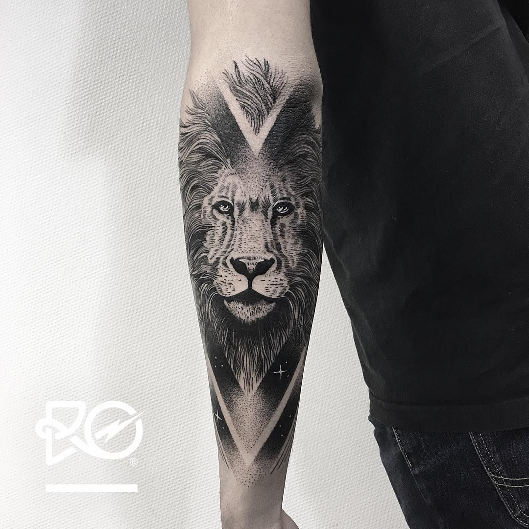 Lower Arm Lion Tattoos • Arm Tattoo Sites