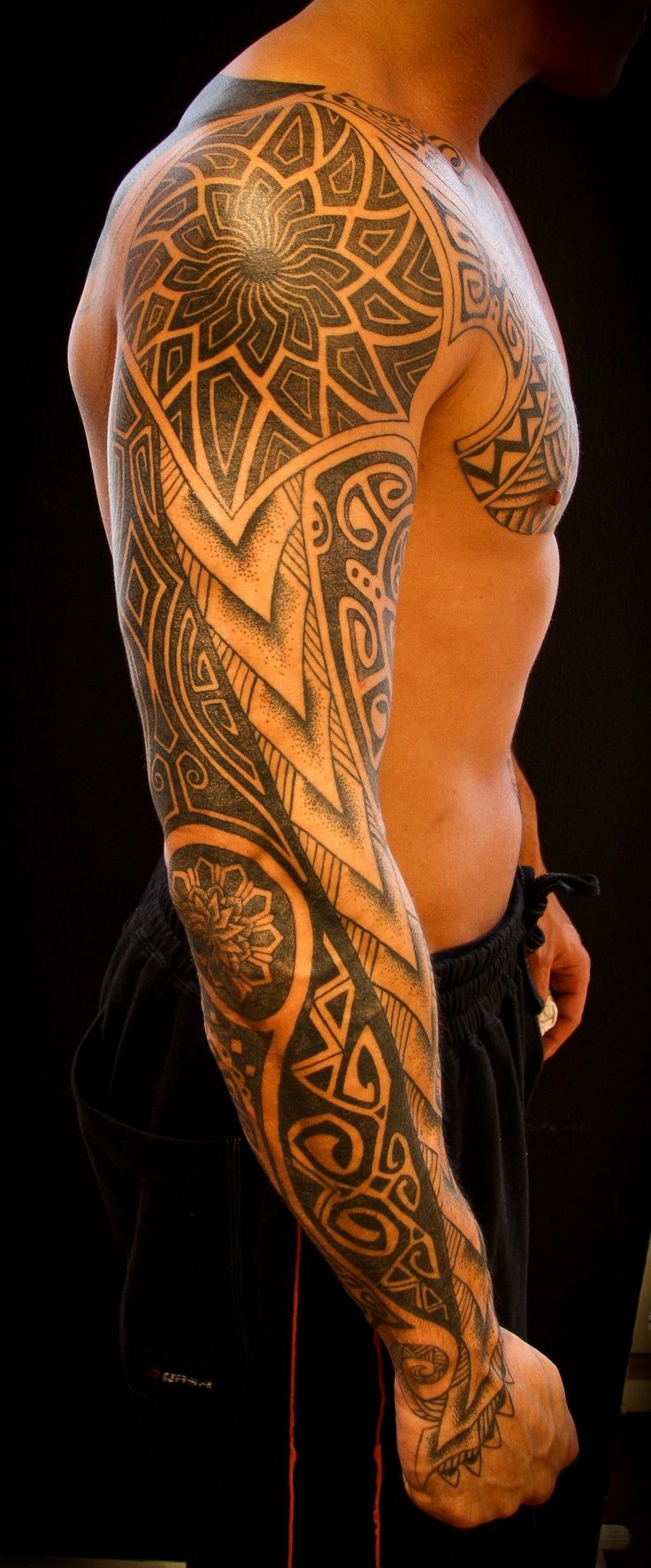 Male Tattoo Ideas Barbed Wire Weapons Skulls And The Devil for size 736 X 1773