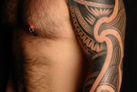 Man With Tribal Tattoo On Left Arm with proportions 1067 X 1600