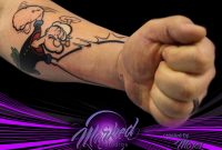 Marked Studios An Awesome Take On The Popeye Arm Tattoo Moses inside dimensions 2048 X 1635