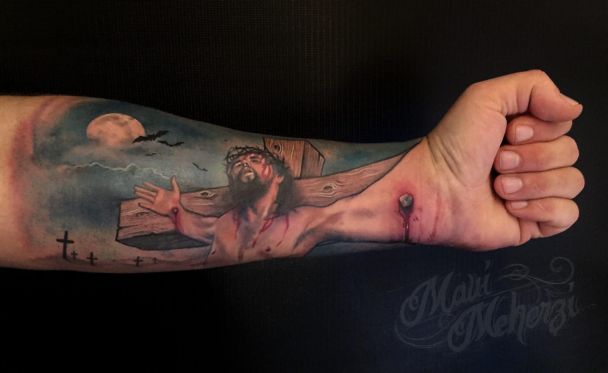 Maui Meherzi Jesus Hand Tattoos Von Tattoo Bewertungde for measurements 2048 X 1256