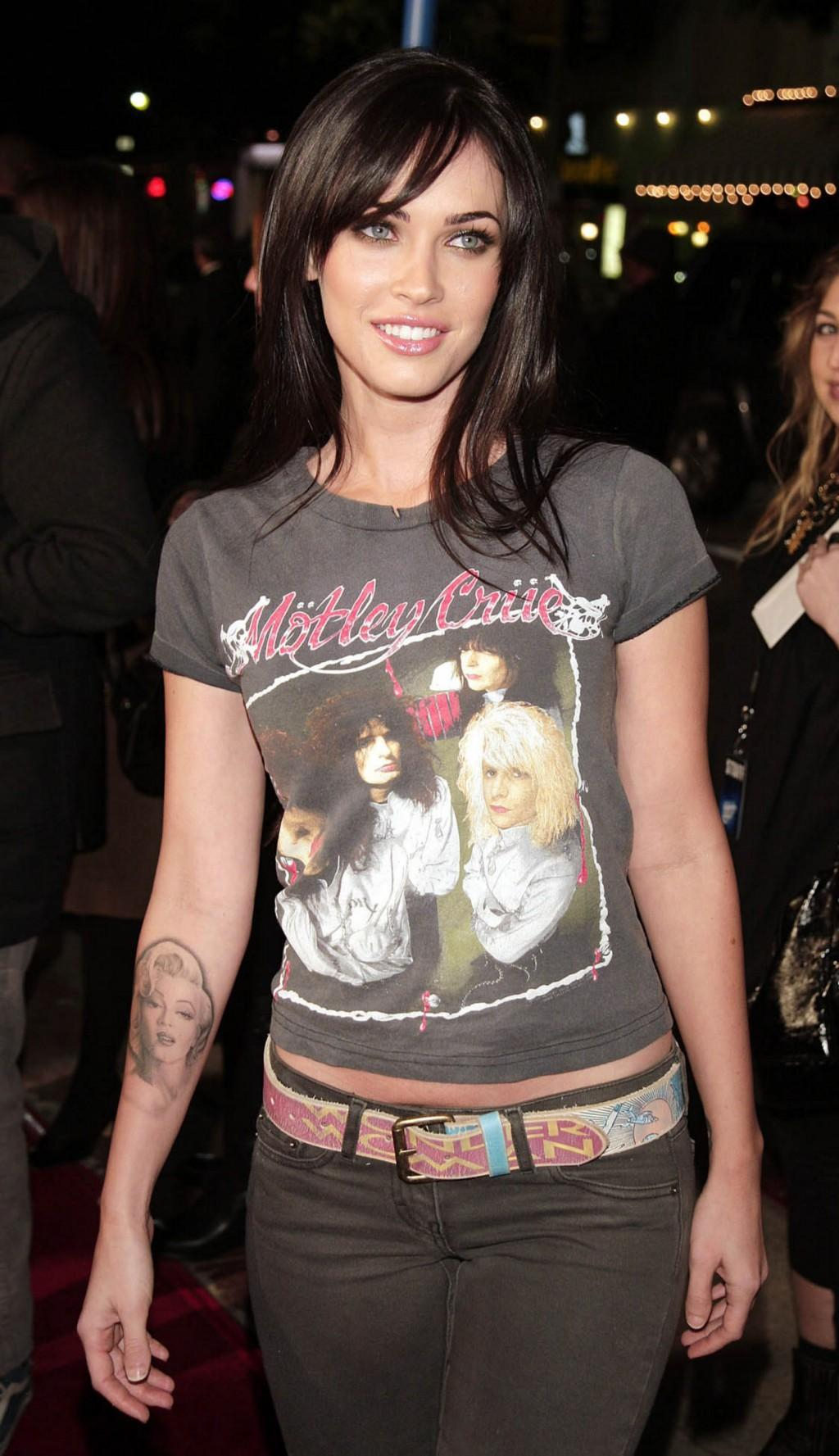 Megan Fox Right Arm Tattoo in sizing 1024 X 1777