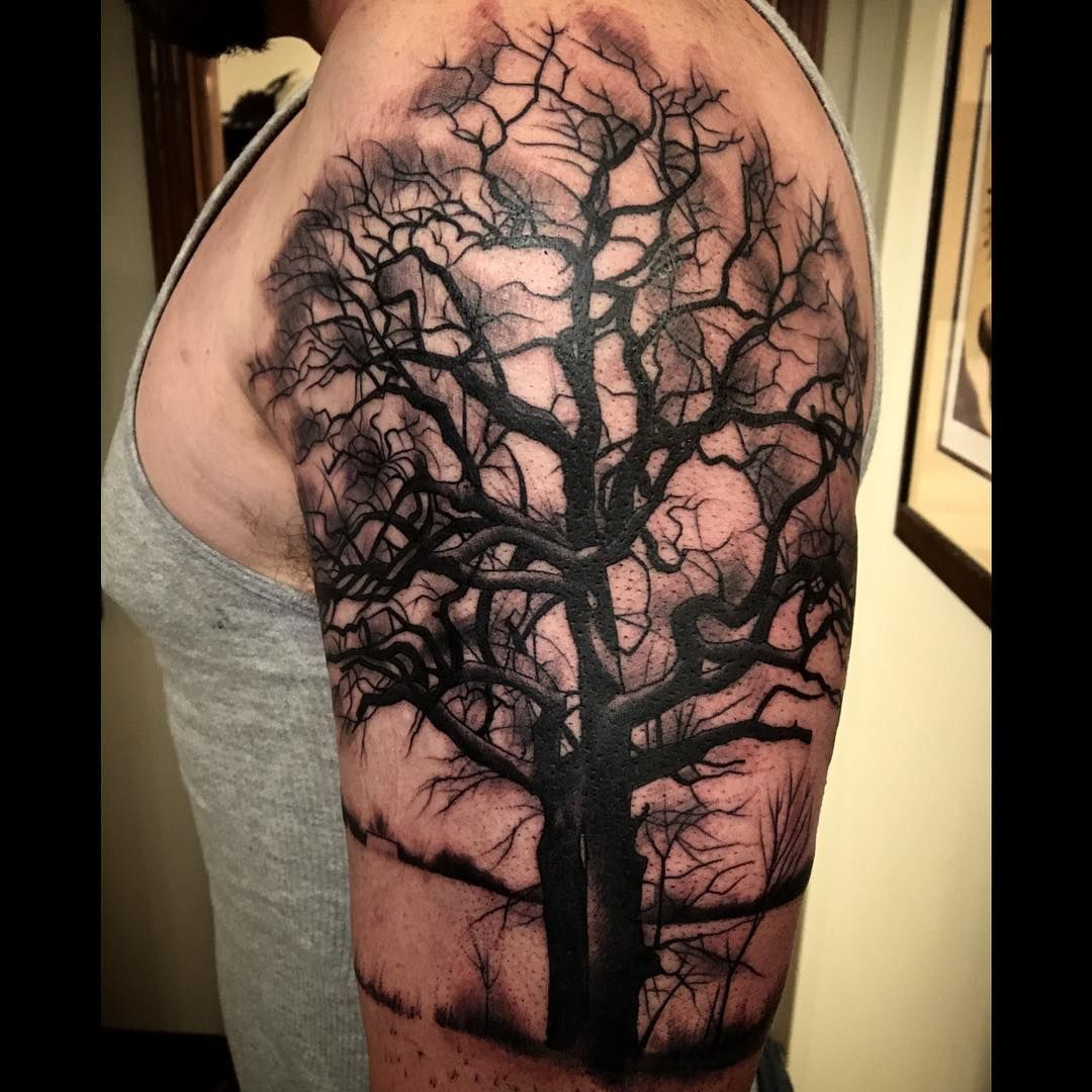 Meghanhoogiand Only Do A Tree Once A Yearhere You Go Treetattoo throughout measurements 1080 X 1080