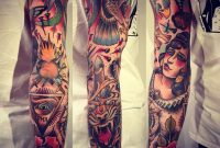 Moon Woman Rose Eagle Arm Tattoo Neo Traditional Alex Drfler Sances inside proportions 1280 X 1280