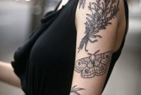 Moth Botanical Tattoos For Women Women Tattooed With Combo Designs inside dimensions 736 X 1104