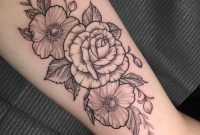 My Inner Bicep Floral Piece Done Sara At Incognito Tattoo In Los within dimensions 1440 X 1434