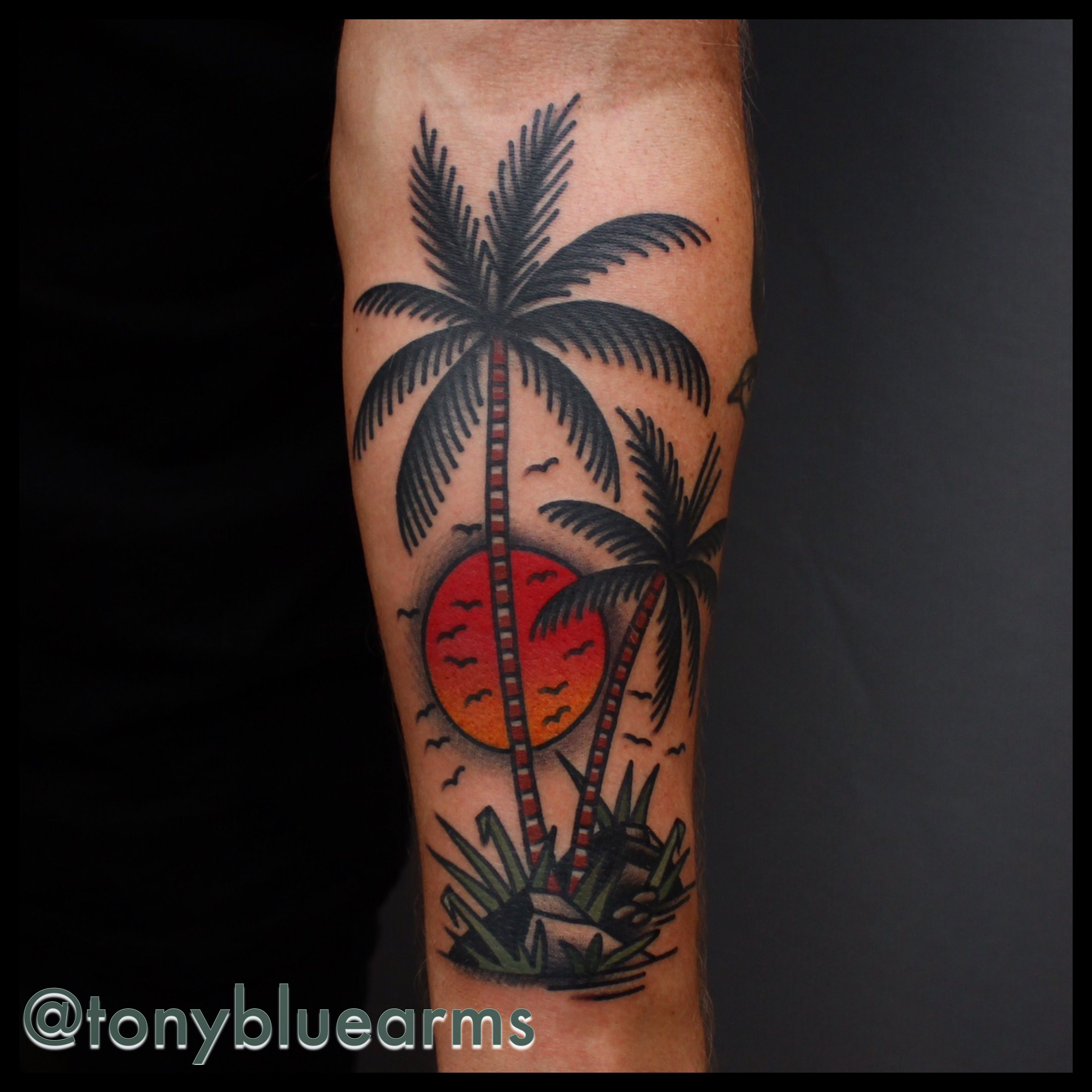 My New Tattoo Traditional Palmtree Tattoo Love It Tony Nilsson with regard to size 3264 X 3264