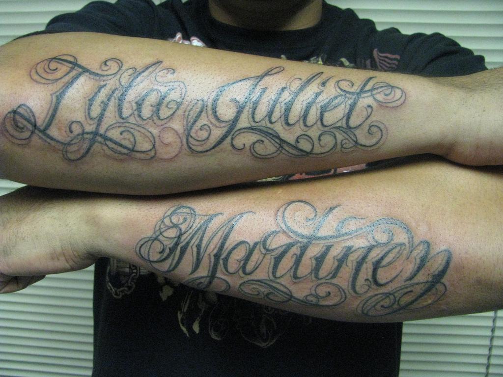 Last Name Arm Tattoo Designs • Arm Tattoo Sites