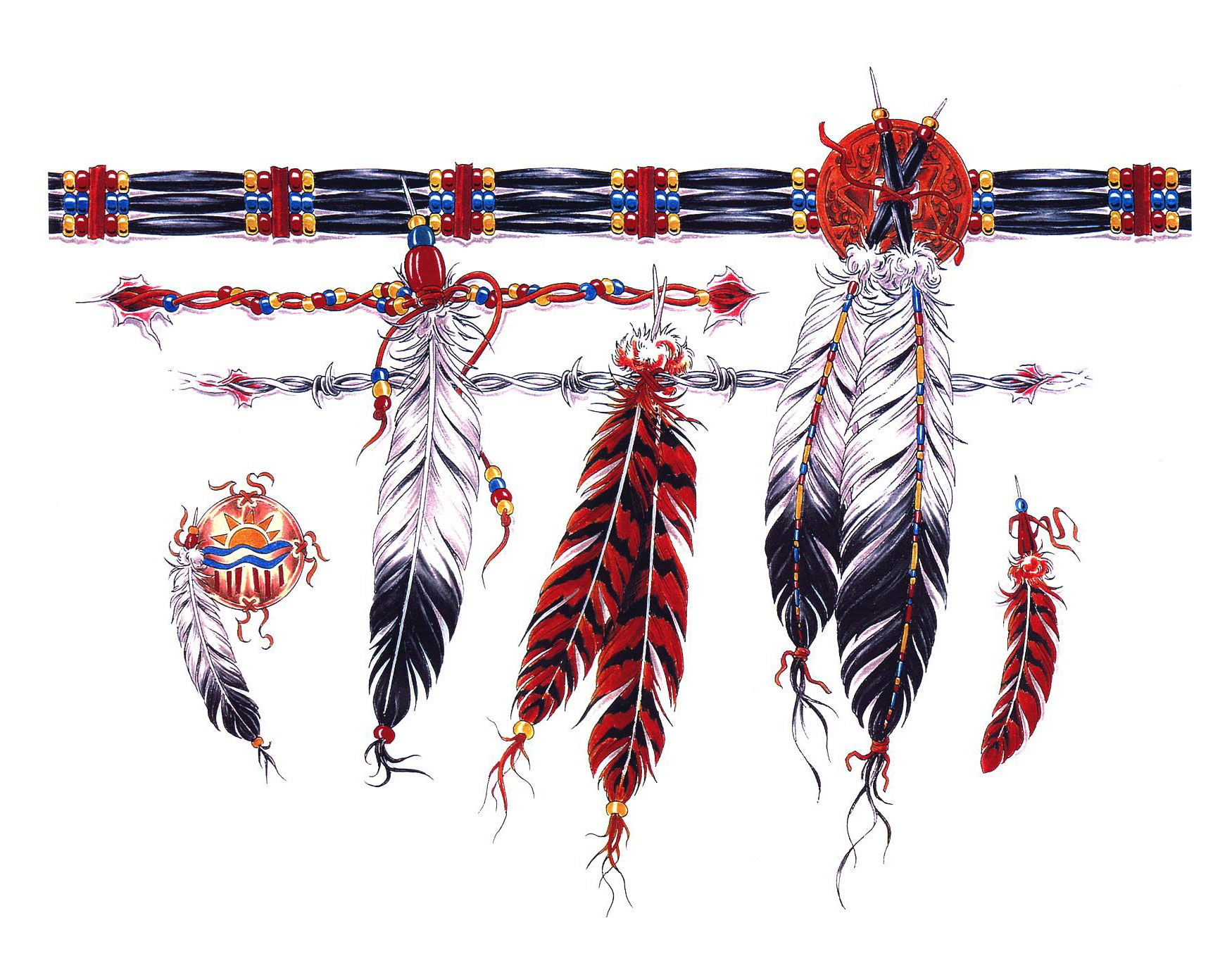 Native American Armband Tattoo Designs Pin American Feathers throughout size 1750 X 1375