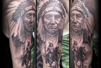 Native American Indios Half Sleeve Black And Grey Tattoos Alo intended for size 4207 X 3884