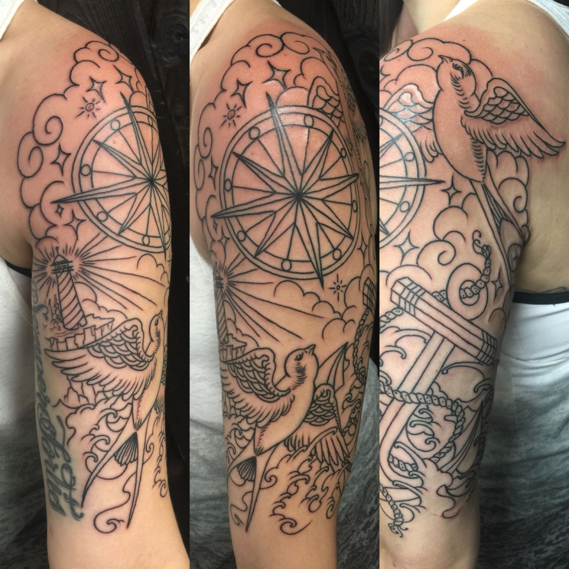 Nautical Theme Half Sleeve Halfsleeve Tattoos Girlswithtattoos pertaining to sizing 2208 X 2208