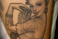 Nettes Schwarzes Graues Pin Up Mdchen Tattoo Tattooimagesbiz inside size 800 X 1191