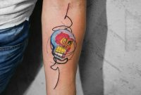 Nice Forearm Decorated With Funny Skull Tattoo Made With Red Ink pertaining to sizing 900 X 923