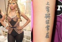 Nicki Minaj Tattoo Meaning With Nicki Minaj Tattoo Tattoo And Body for sizing 1024 X 853