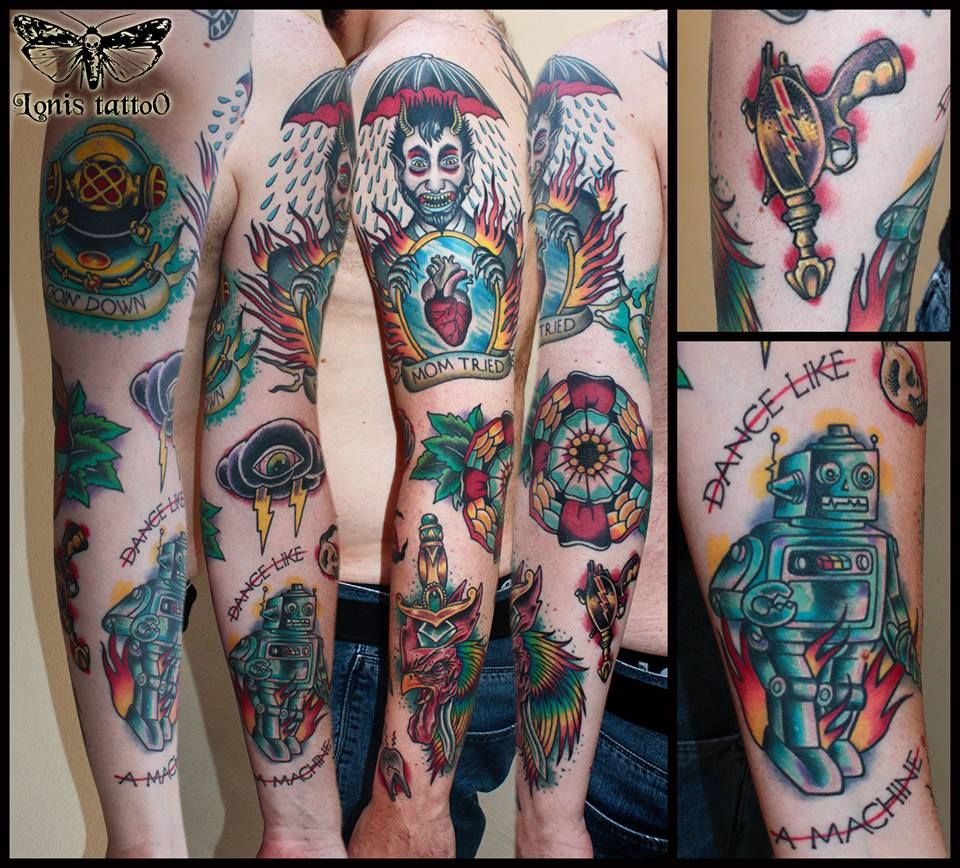 Oldschool Sleeve 3rd Prize Best Traditional Tattoo At The Berlin inside sizing 960 X 868