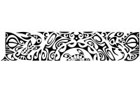 Outline Armband Tattoo Design with measurements 1200 X 1200