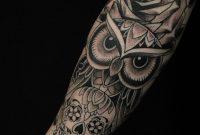 Owl And Sugar Skull From Charlie At Guru In San Diego Ca Tatts regarding sizing 900 X 1155