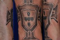 Portugal Fussball Wappen Football Coat Of Arms Tattoo Black And Grey inside measurements 1421 X 1429