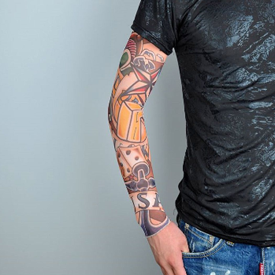 Quick Dry Sleeve Cover Cycling Tattoos Arm Warmer Bicycle Cuff Uv intended for measurements 1050 X 1050