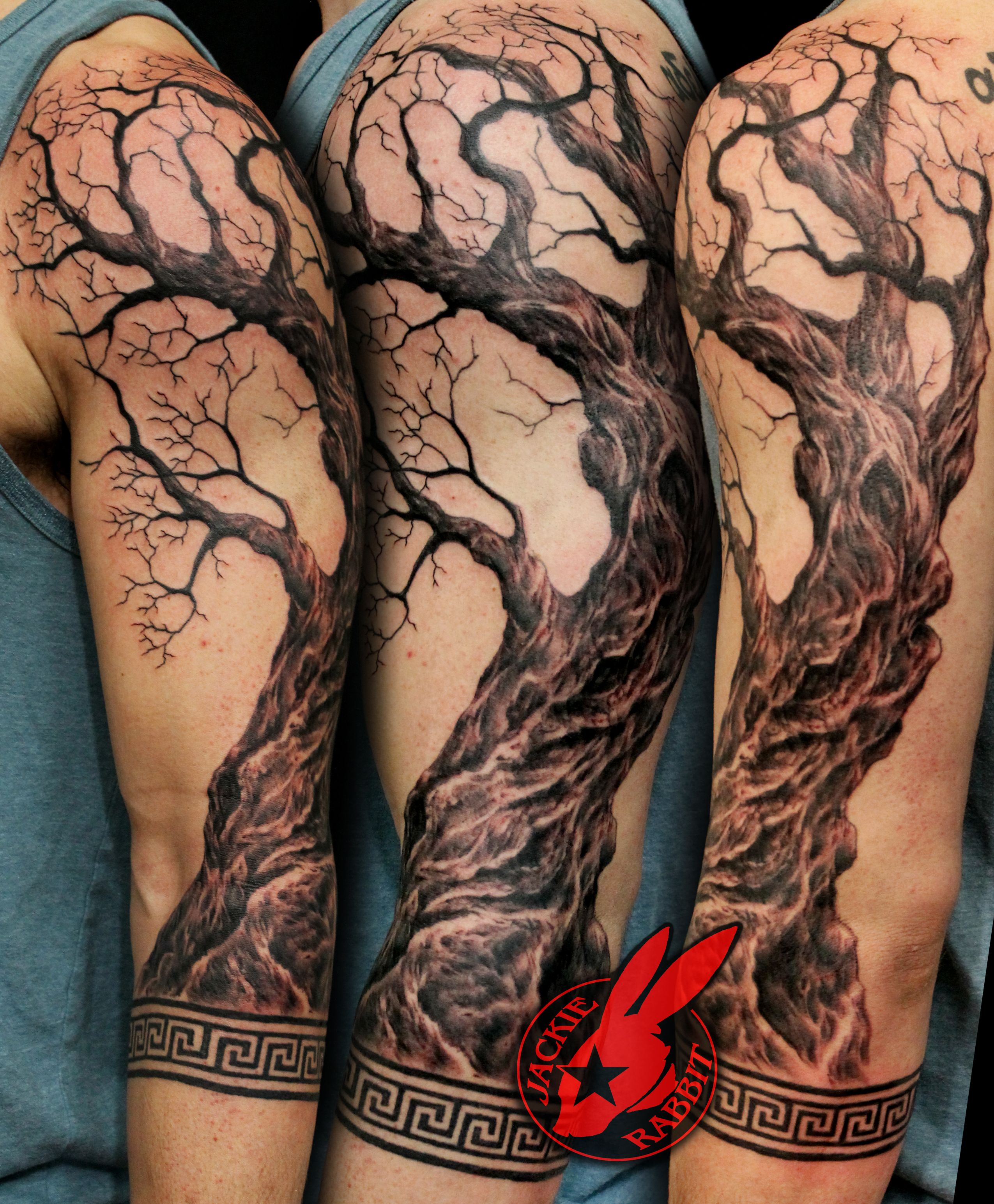 Realistic Olive Tree Sleeve Greek Border Pattern Key Tattoo regarding measurements 2550 X 3090