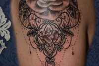 Rosen Mandala Dotwork Tattoo Stuttgart Rose Blackandgrey throughout size 1288 X 1569