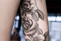 Rosentattoo Oberarm Innen Tattooidee with measurements 736 X 1104