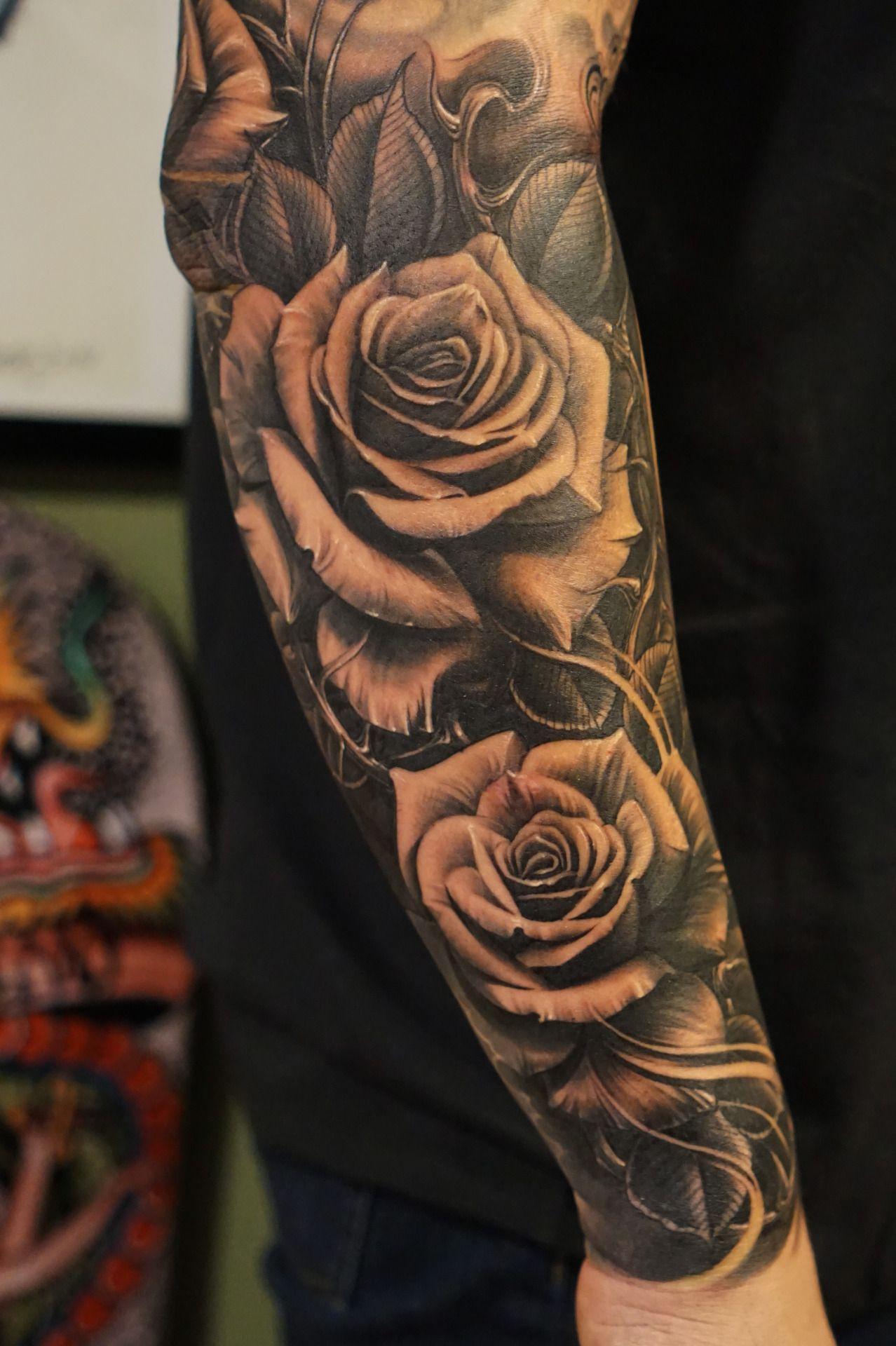 Roses Vetoe Black Label Art Co Los Angeles Usa Tatuajes throughout measurements 1278 X 1920