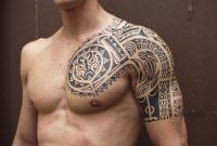 Sexy Men Half Sleeve Tattoos Black Ink Samoan Tribal Half Sleeve in proportions 1055 X 850