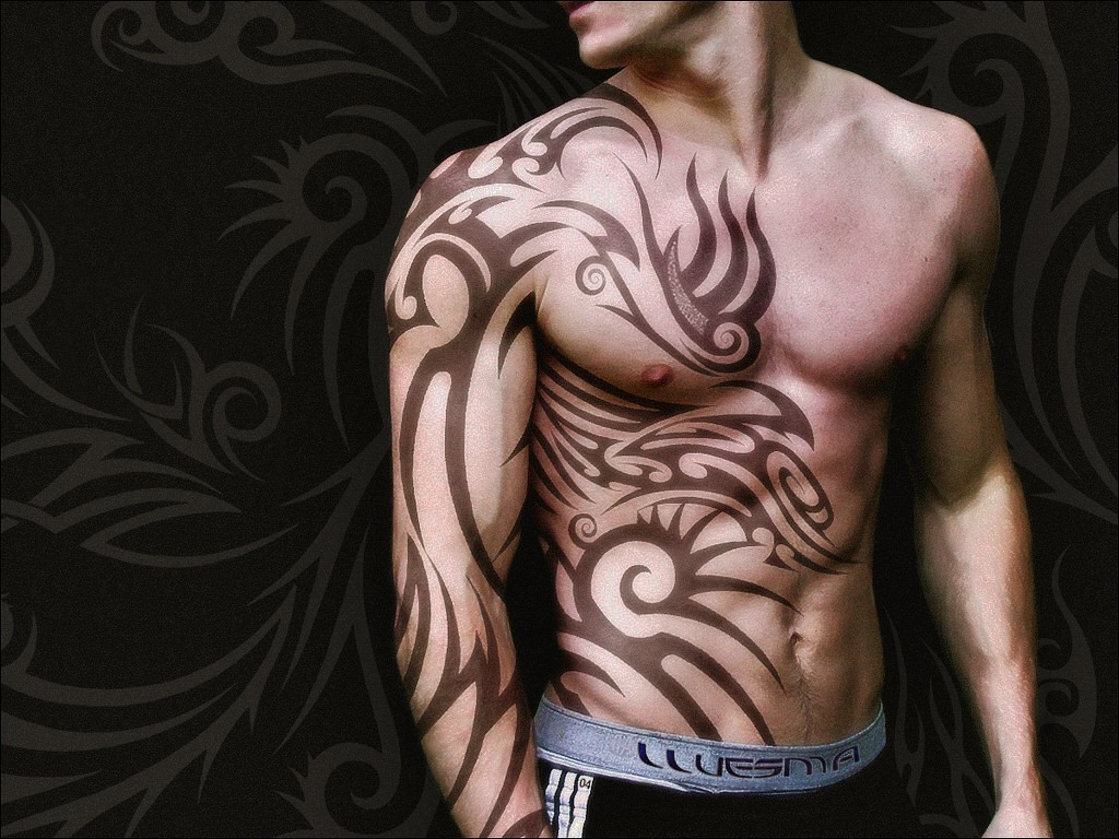 Side Chest To Arm Tribal Tattoos Tattoo Art Inspirations with sizing 1024 X 768