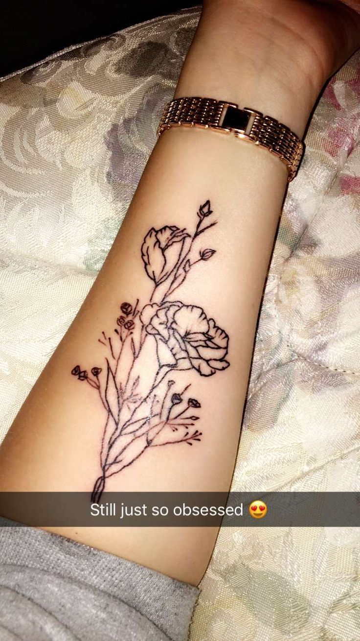 Simple Floral Tattooforearm Placement Tattoo Symbol Designs with regard to dimensions 736 X 1309