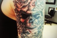 Skull With Roses On Arm Thepipper27 On Deviantart in measurements 774 X 1032