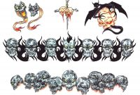 Skulls Armband Tattoos Designs intended for dimensions 1375 X 1080