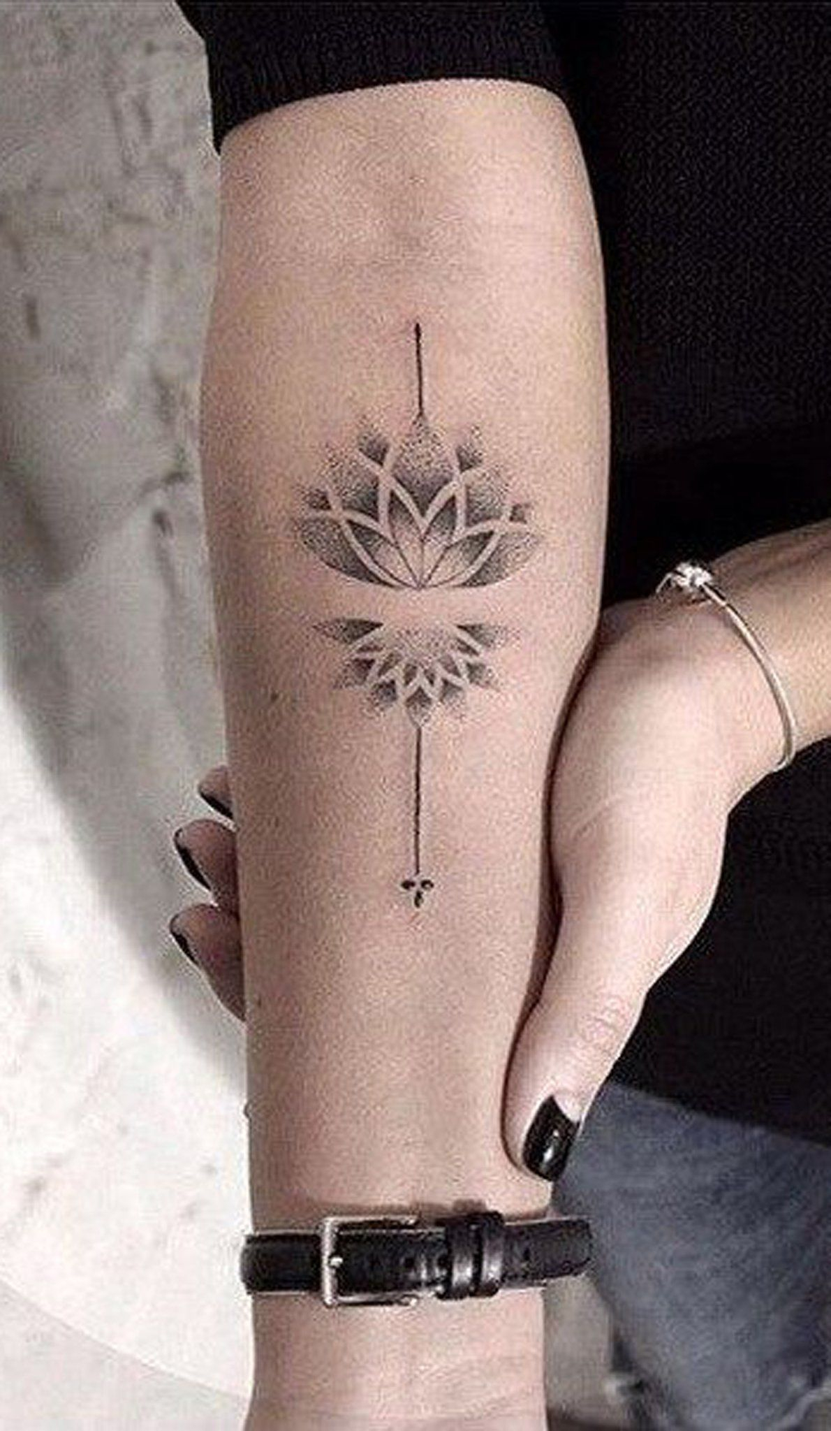 Small Minimal Lotus Forearm Tattoo Ideas For Women Lotus Mandala throughout size 1190 X 2048