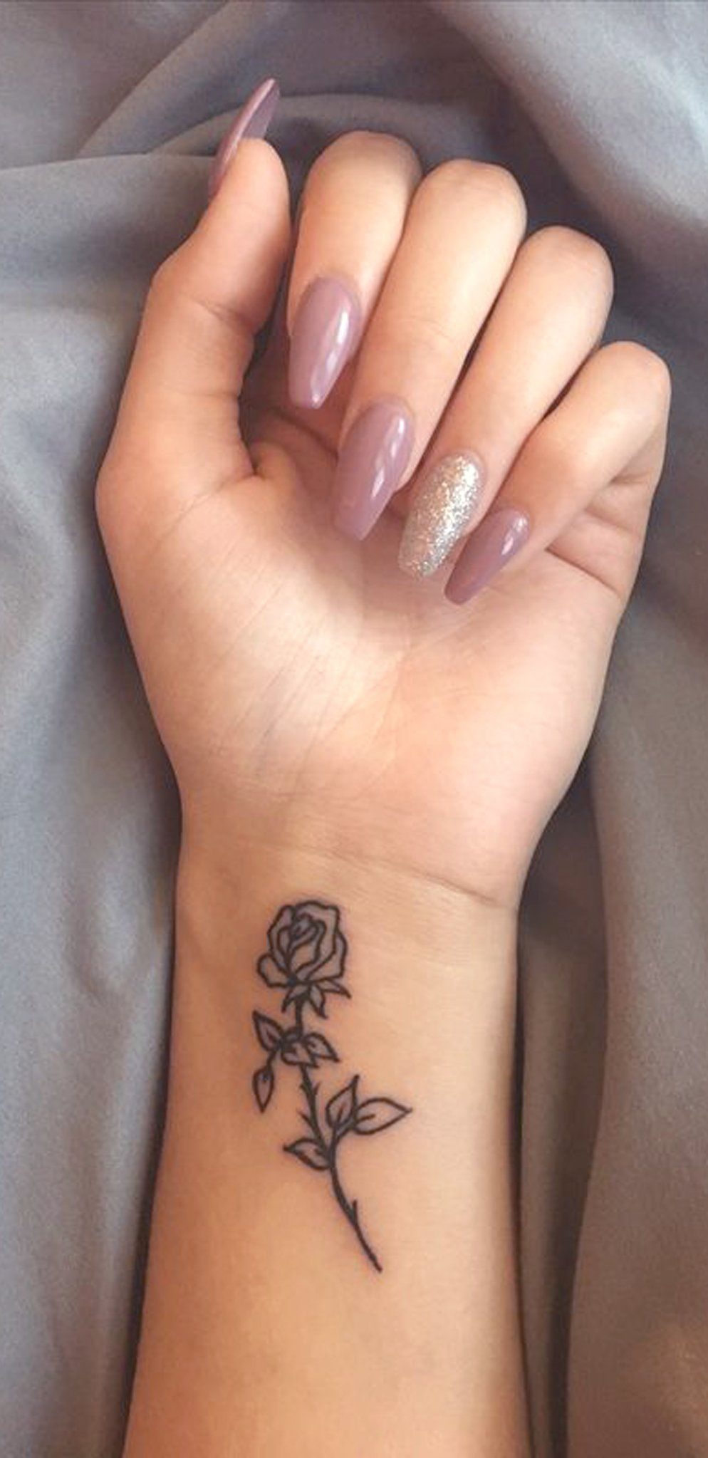 Small Rose Wrist Tattoo Ideas For Women Minimal Flower Arm within measurements 994 X 2047