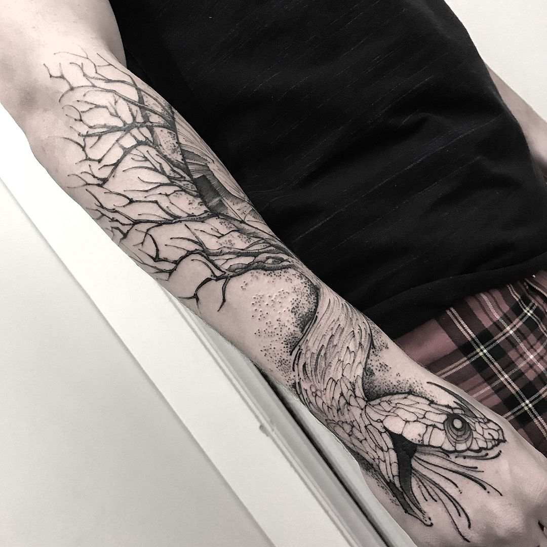 Snake Arm Sleeve Tattoos Snake Wrapped Around Arm Tattoo 2018 intended for sizing 1080 X 1080