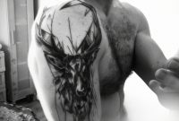 Stag Tattoo On Upper Arm And Shoulder Tattoo Stag Tattoo pertaining to proportions 1168 X 1334