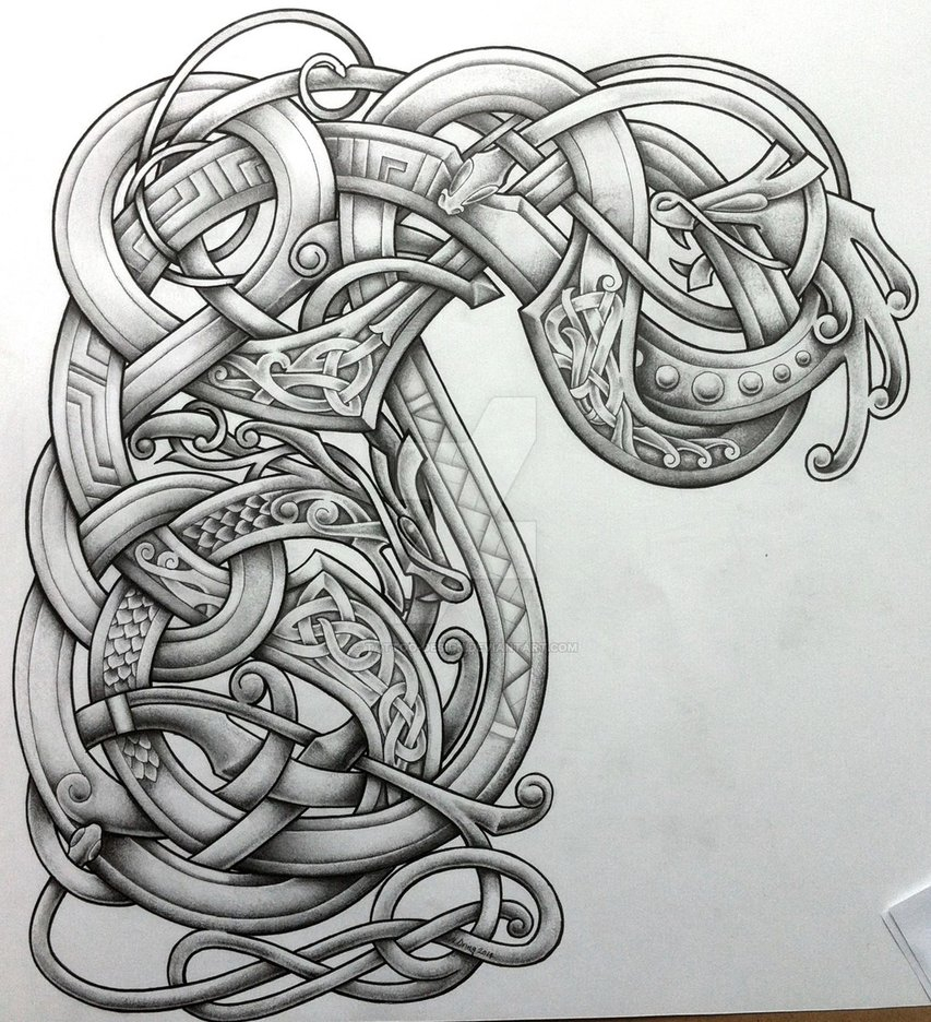 Stylised Arm And Chest Design Tattoo Design On Deviantart in proportions 853 X 936