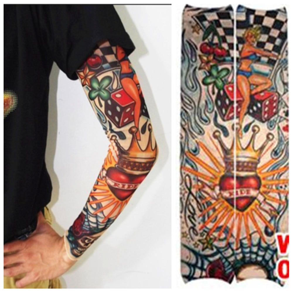 Tattoo Arm Sleeve Men Summer Sleeves Warmers Block Nylon Casual in sizing 1000 X 1000