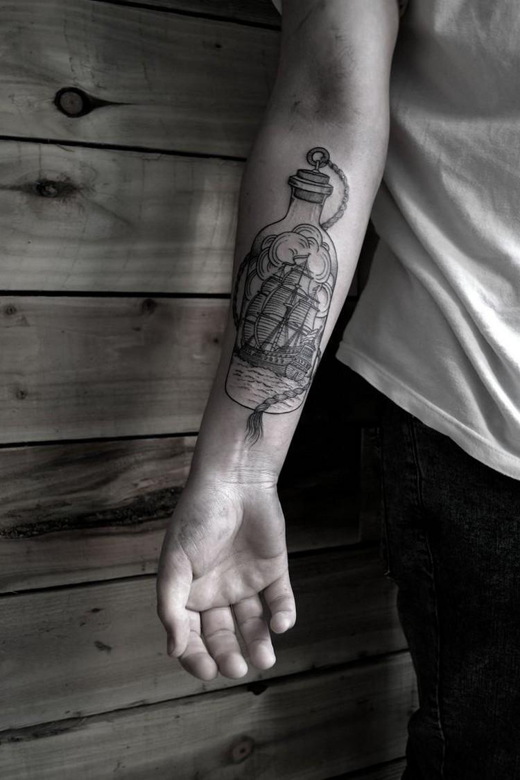 Mann unterarm tattoo Tattoo Arm