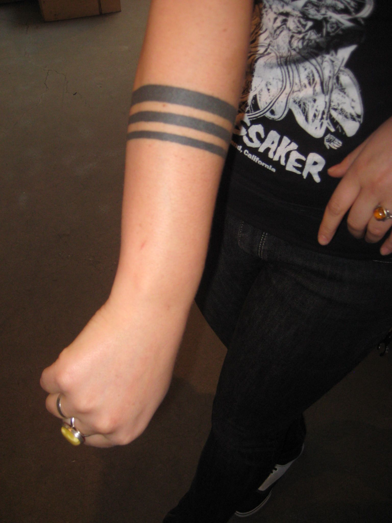 Tattoo Bands Around Arm Tattoostripes Things To Wear pertaining to measurements 1536 X 2048