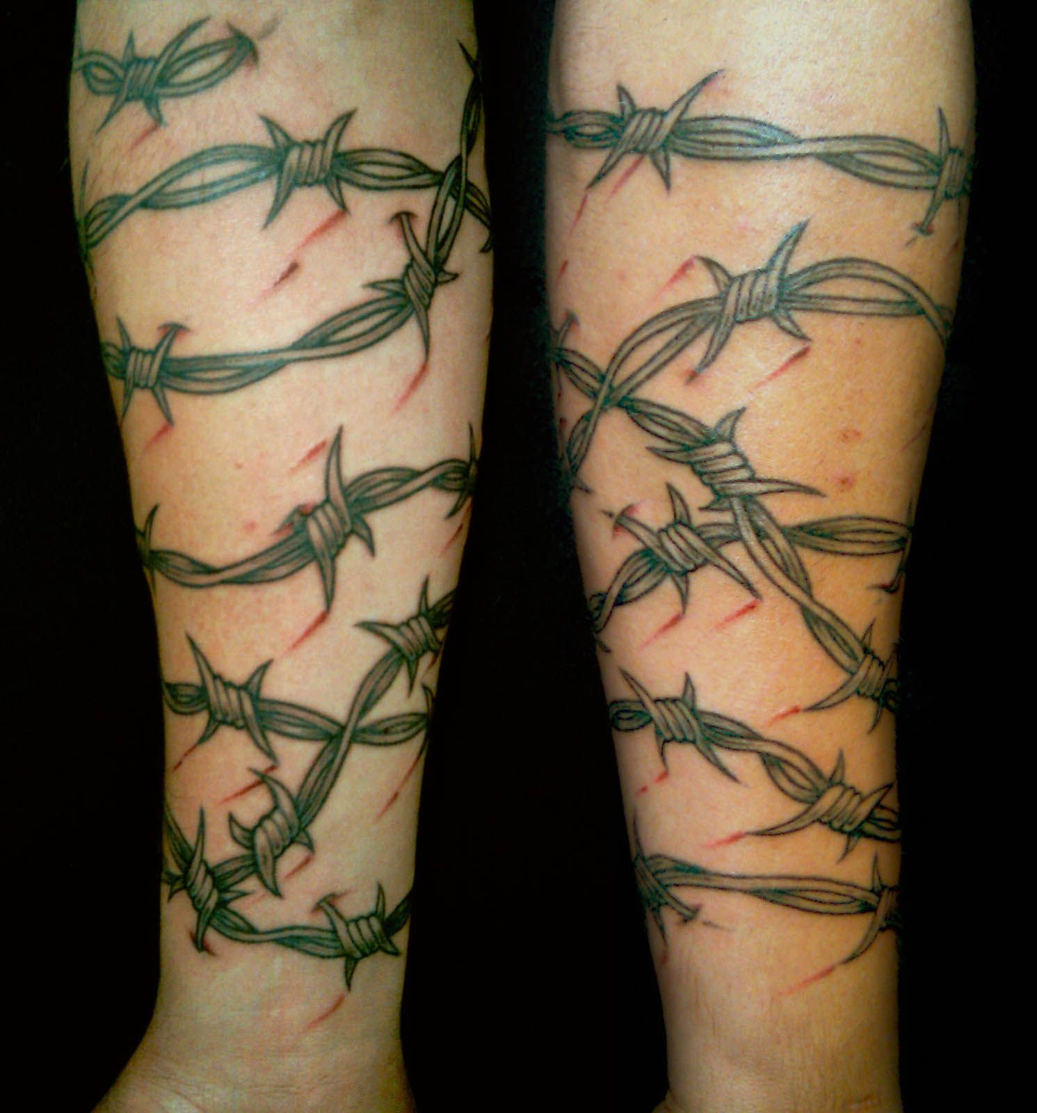 Tattoo Portfolio Black Grey And Red Barbed Wire Sleeve Barbed Wire inside sizing 1491 X 1600