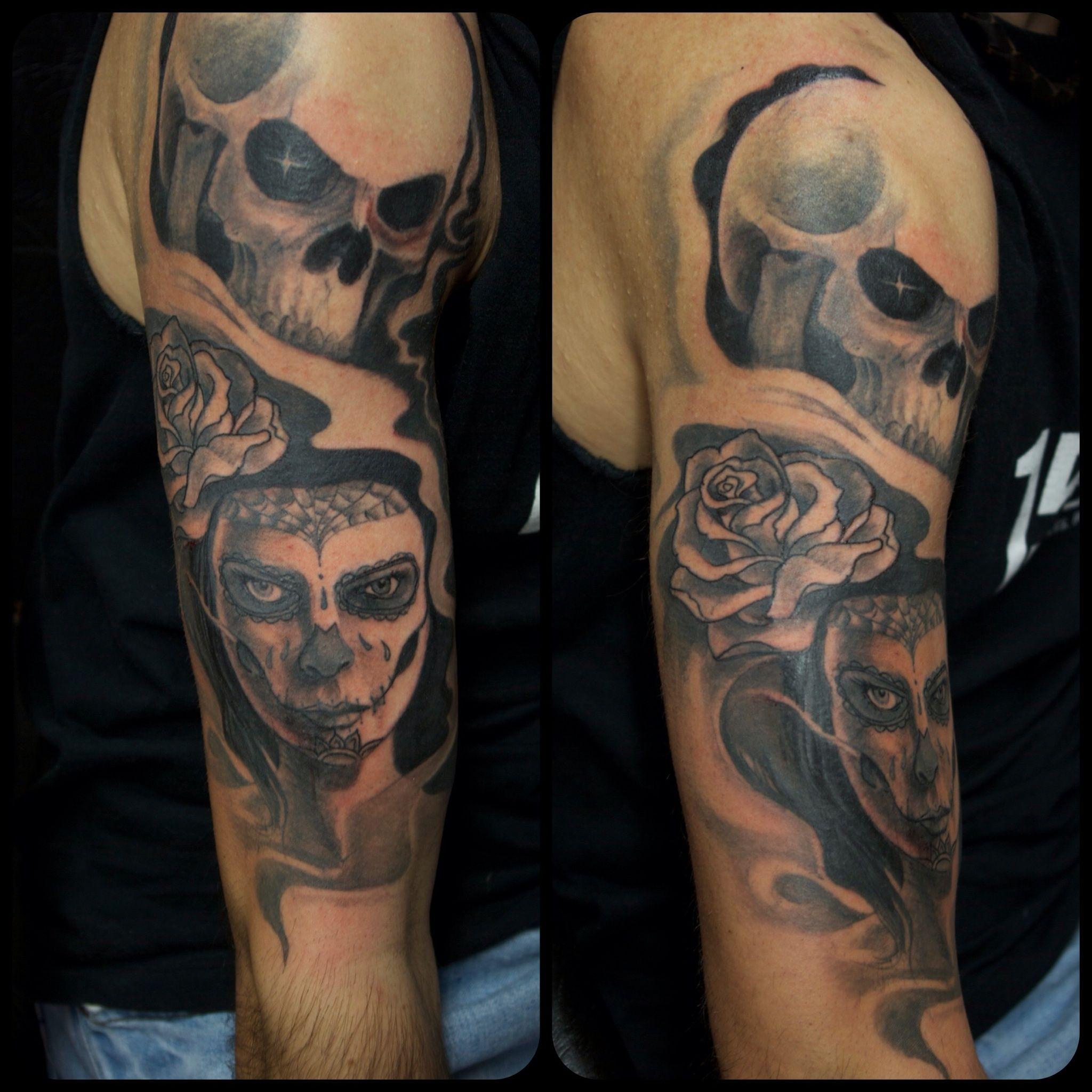 Tattoo Skull Woman Rose Arm Tattoo Marecuza Tattoo Piercing throughout sizing 2048 X 2048
