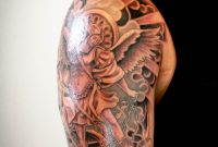 Tattoos Halfsleeve Tattoo Black And Gray Tattoo St Michael Arch regarding dimensions 3456 X 5184