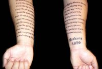 Text Tattoo Arm Tattoo Art And Design Star Tattoo With Text regarding size 1600 X 1245